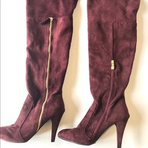 Over the knee Bucco boots wished zipper sz7.5